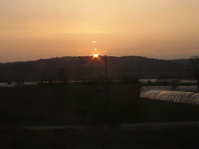 070_Sonnenuntergang in Südserbien