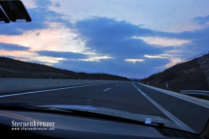 Sonnenuntergang-unterwegs