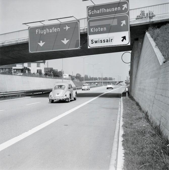Autobahn zum Flughafen A51, Ausfahrt Glattbrugg/Kloten
