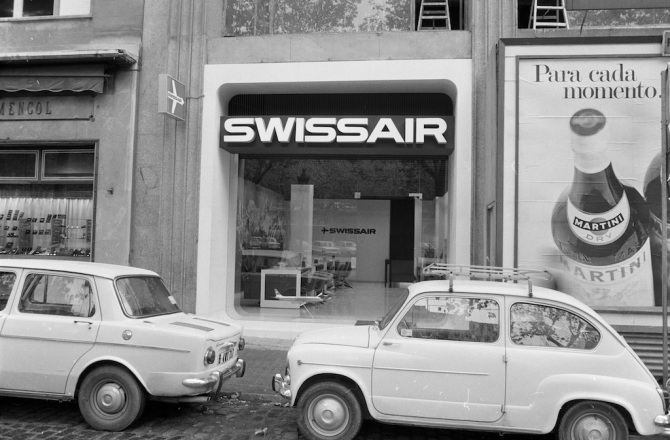 Reisebüro der Swissair in Barcelona