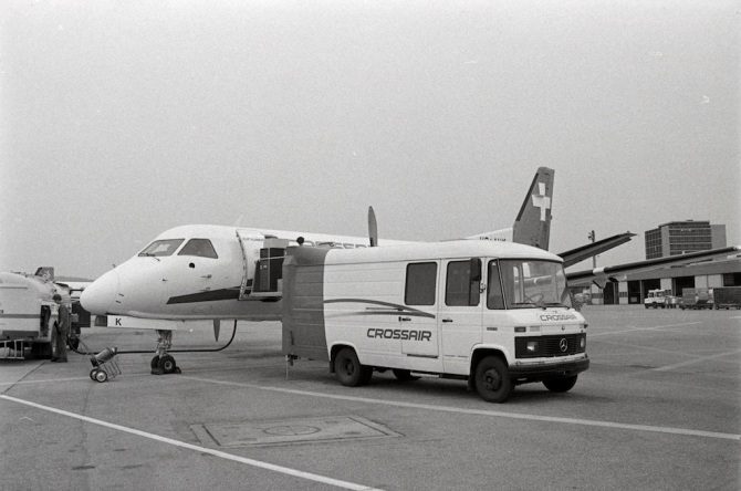 Eröffnungsflug der Crossair nach Tirana mit Saab Fairchild 340, HB-AHK