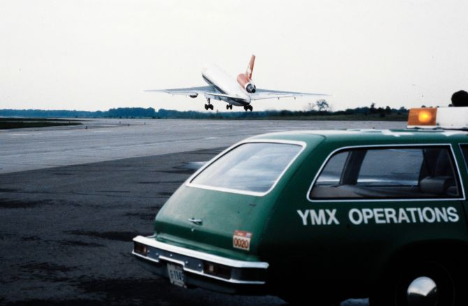 Douglas DC-10 der Swissair beim Start in Montreal